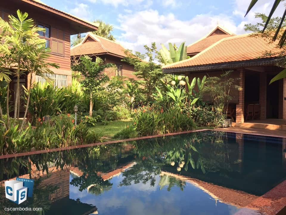 Charming Wooden Boutique Hotel – with Pool – For Sale- Siem Reap