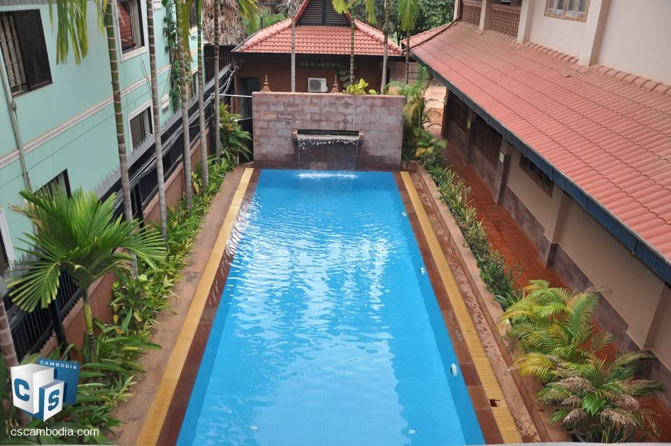1 bedroom Apartment with Pool – For Rent – Kok Chork Commune – Siem Reap