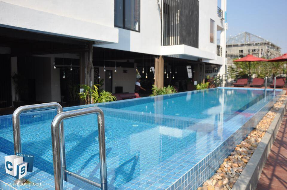 Modern 1 Bedroom House With Pool – For Rent – Svay Dangkum District – Siem Reap