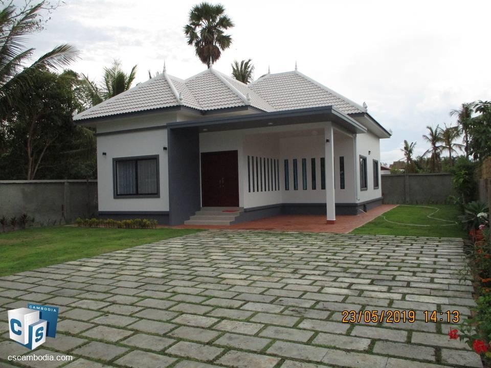 2 Bedroom House – For Rent  – Sala kamroek Commune – Siem Reap