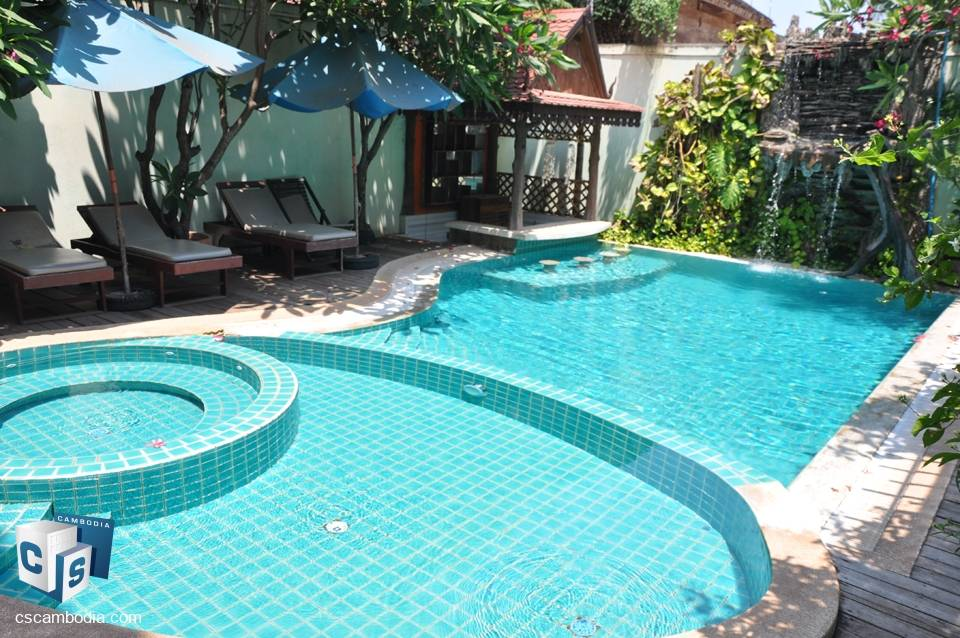 Hotel with gorgeous views overlooking siem reap river  – for rent – siem reap