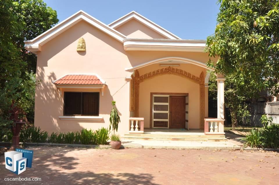4 Bedroom House – For Rent  Sala Kanseng Village – Svay Dangkum Commune – Siem Reap