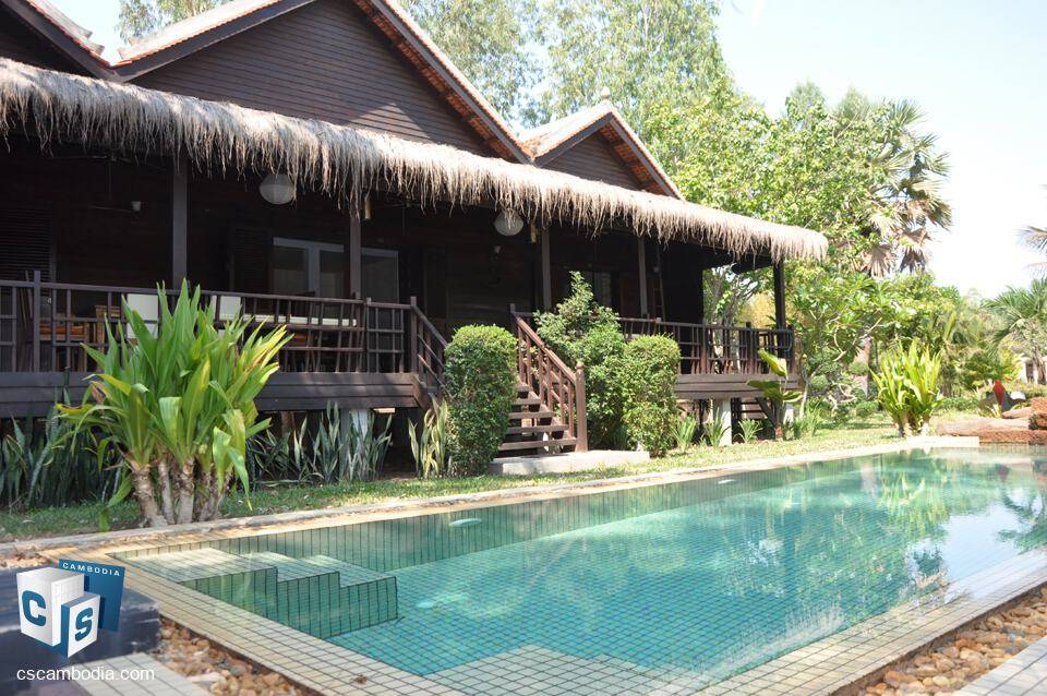 Beautiful 4 Bedroom House with Lush garden & pool – For Sale – Krous Village – Siem Reap