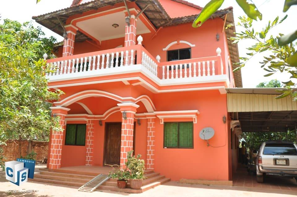 5 Bedroom House – For Rent- Kok Dong Village – Teak Vil Commune – Siem Reap