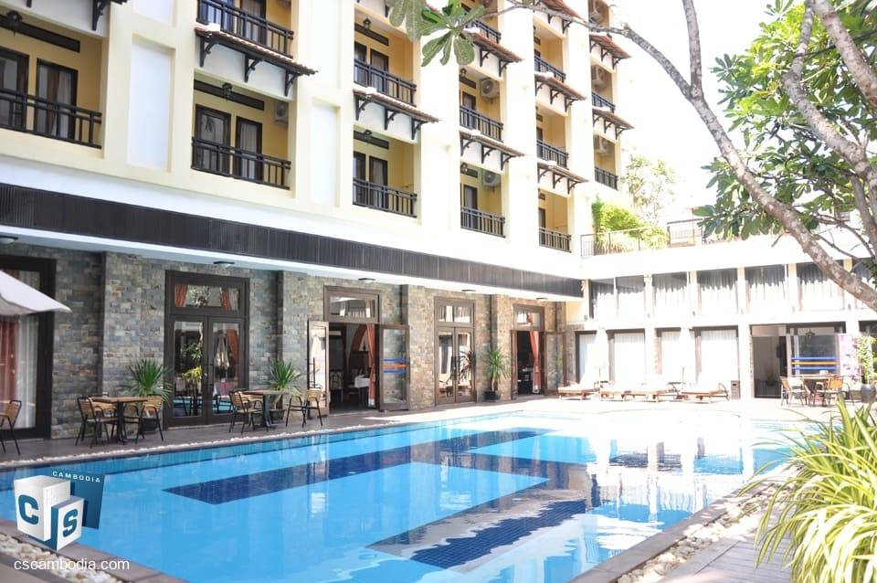Popular Hotel close to main SR attractions & transport links – for sale – Siem Reap
