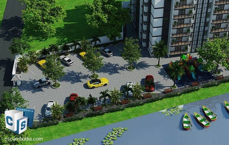 Smart-Ready Apartments with Fitness Club, Pool, Jogging Track & Lake – For Sale – Siem Reap