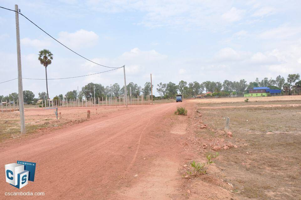 2505 Sq m Land – For sale – Sala Kanseng Village – Svay Dankum commune – Siem Reap