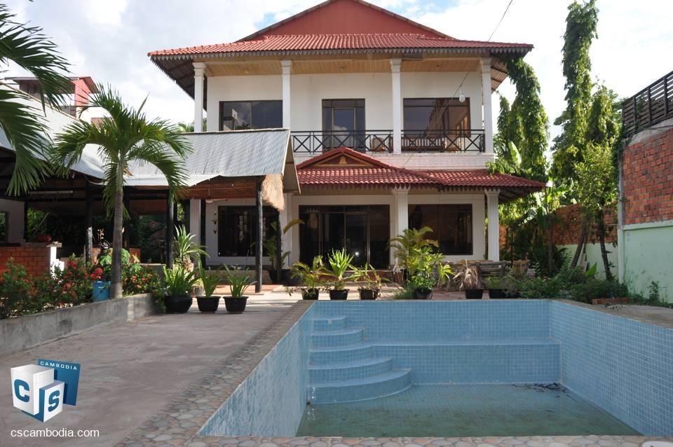 15 Bedroom Guest house – For Rent – Wat Damnak Village, Sala Kamreuk Commune, Siem Reap