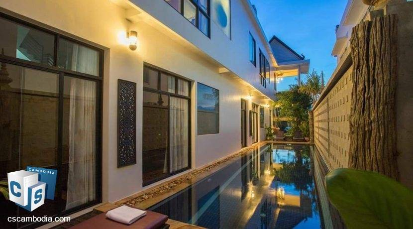 Beautfully furnished Hotel With Pool Views – For Rent – Svay Dangkum – Siem Reap