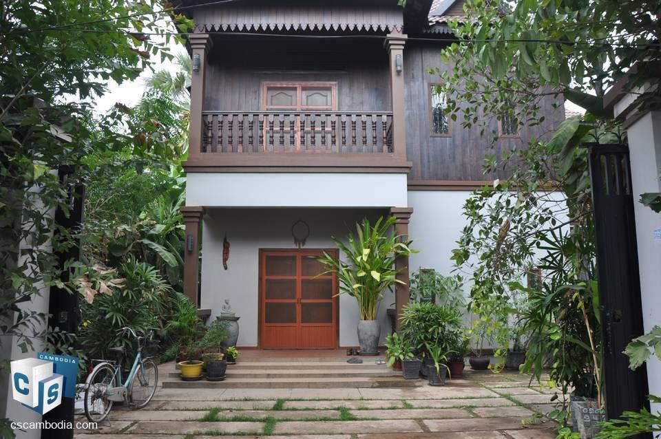 3 Bedroom Traditional  House – For Rent  – Trapeang Traeng Village – Sala Kamreuk – Siem Reap