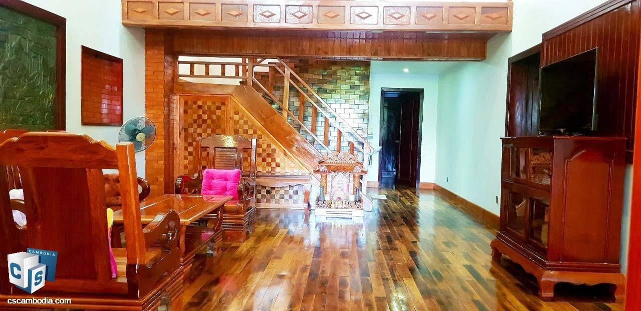 3 Bedroom House – For Rent – Sala Kanseng Village – Svay Dangkum Commune – Siem Reap