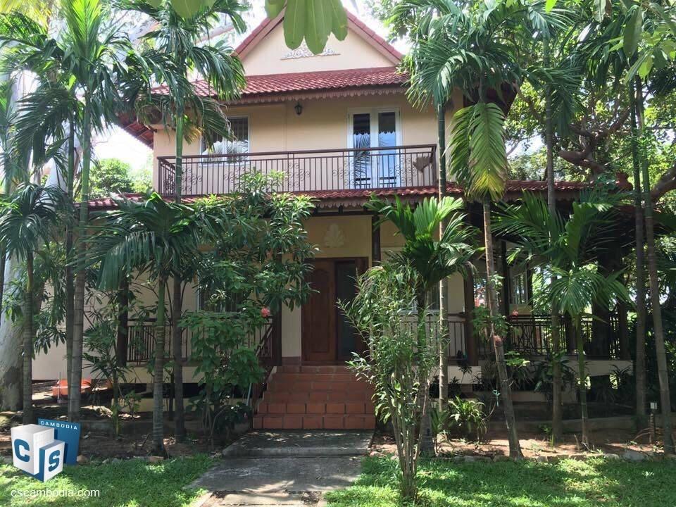 3 Bedroom House – For Rent – Kruos Village – Svay Dangkum Commune – Siem Reap