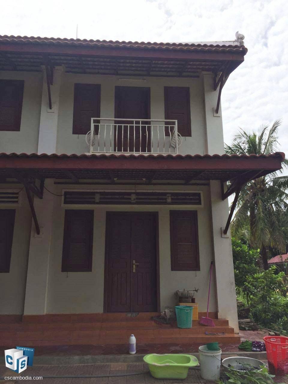 2 Bedroom House – For Rent – Wat Damnak Village – Sala Kamreuk Commune – Siem Reap