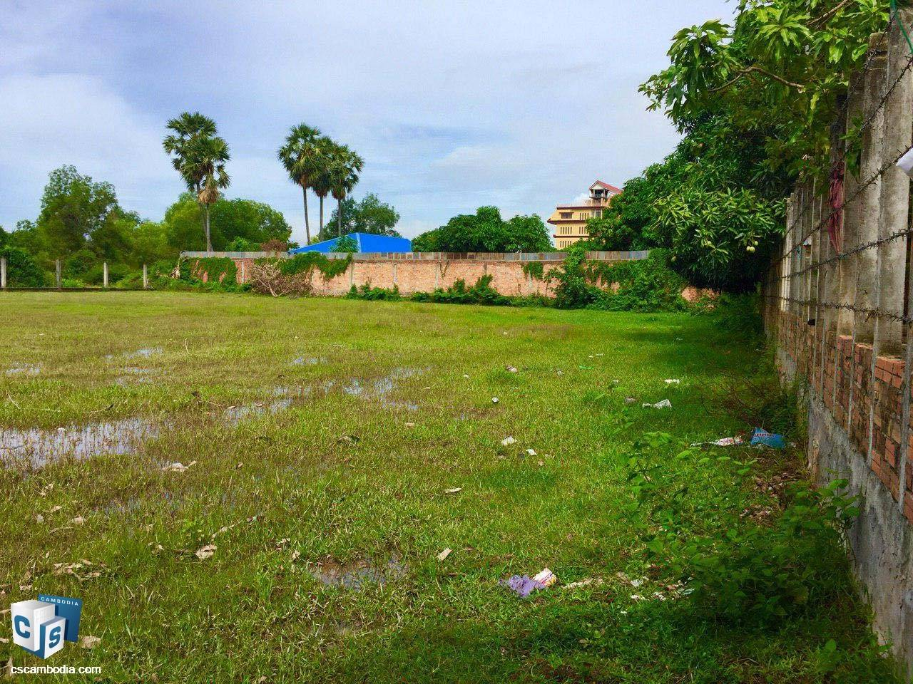 2,418 Sq Meters Of Land – For Sale – Svay Dangkum -Siem Reap