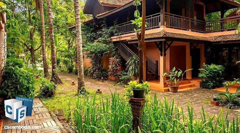 Beautiful 6 Room Luxury Hotel – For Rent – Wat Bo Village – Sala Kamreuk Commune – Siem Reap
