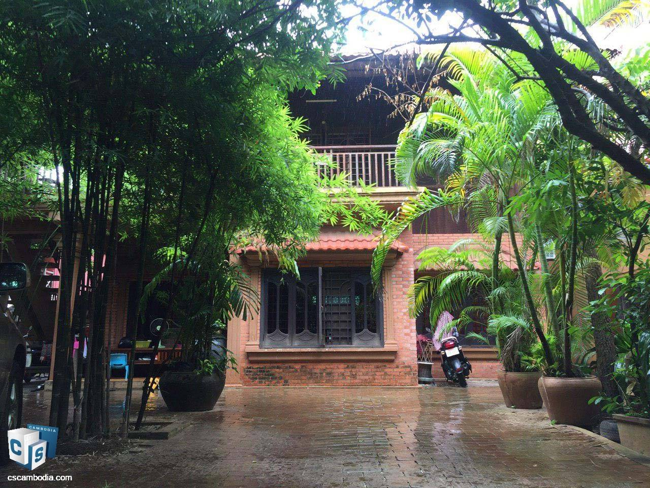 2 Bedroom Top-floor in traditional house – For Rent – Sla Kram Commune – Siem Reap