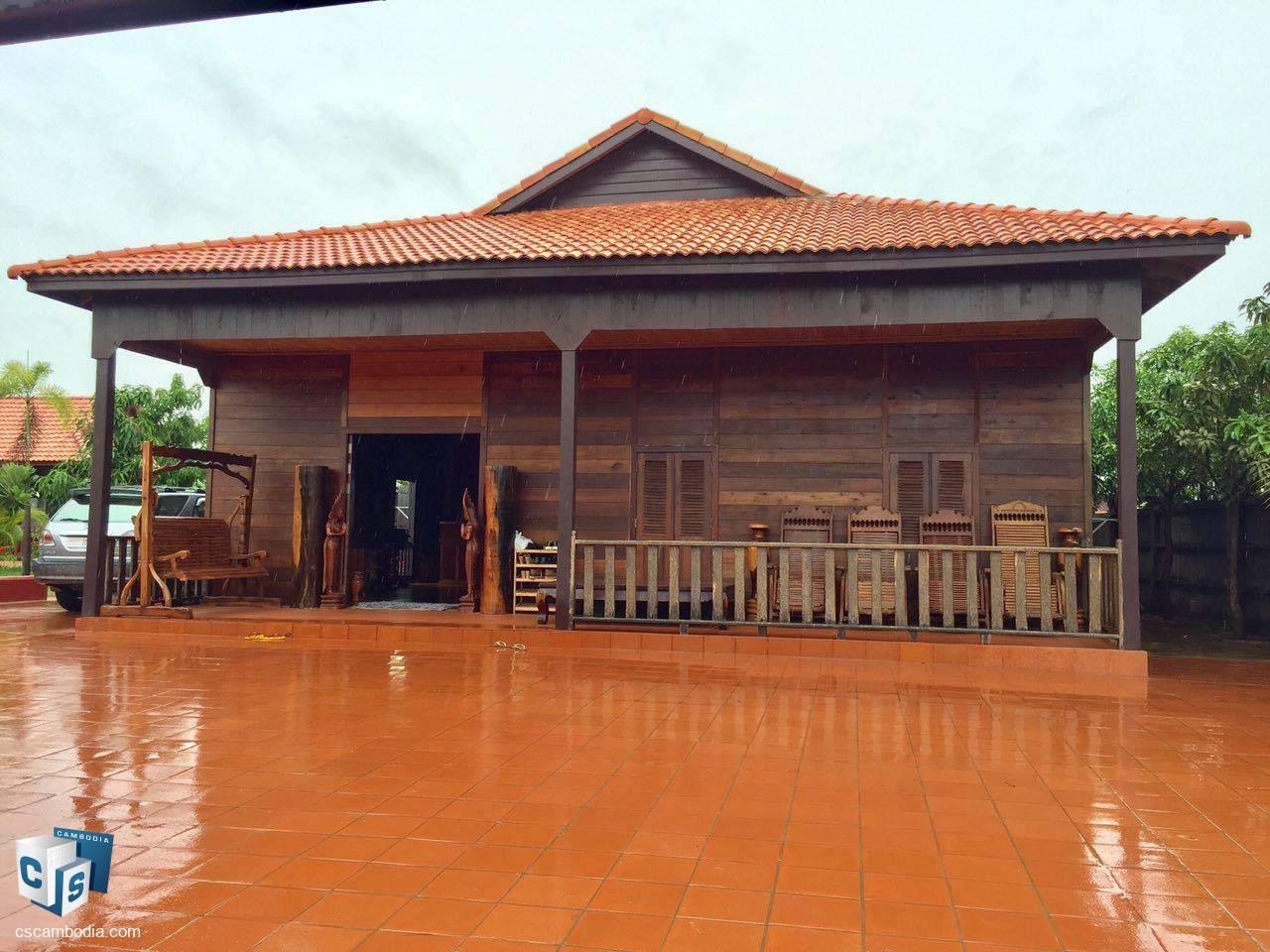 4 Bedroom Wooden House – For Sale – Steung Thmei Village – Svay Dangkum – Siem Reap