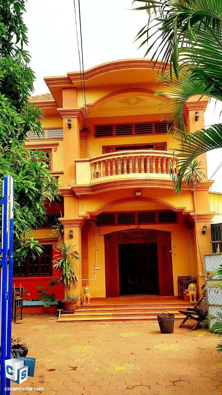 10 Bedroom House – For Rent – Steung Thmei Village – Svay Dangkom Commune – Siem Reap