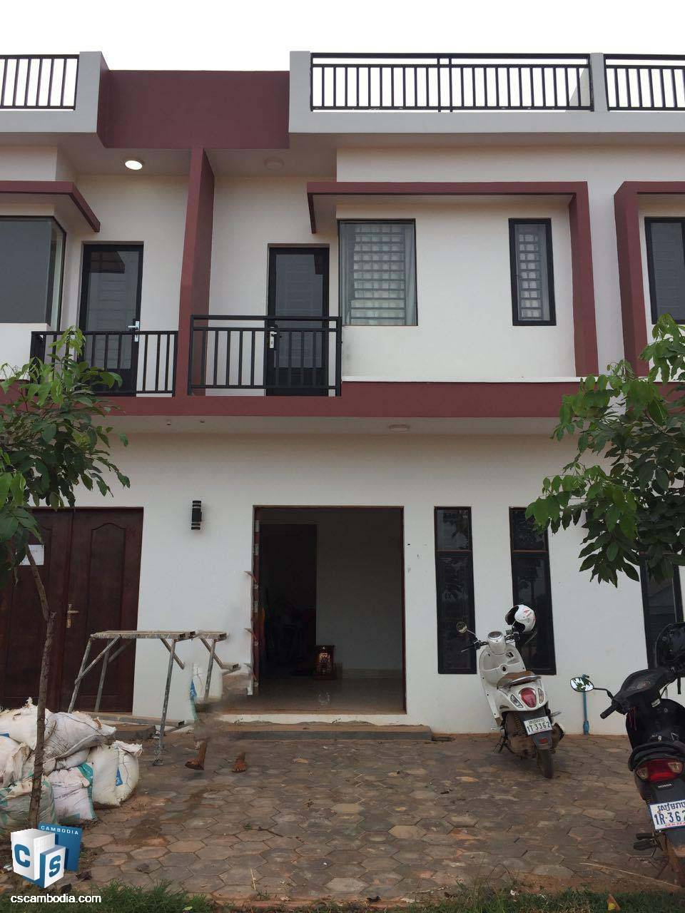 2 Bedroom Townhouse – For Sale – Kantrak Village – Sambor Commune – Siem Reap