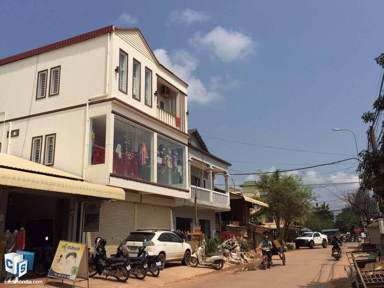 Shop House – For Sale – In Tropheang Ses Village – Kok Chork Commune – Siem Reap