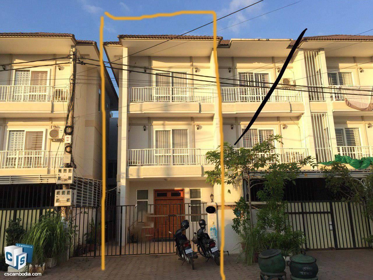 3 Bedroom House – For Rent– Svay Dangkom Commune– Siem Reap