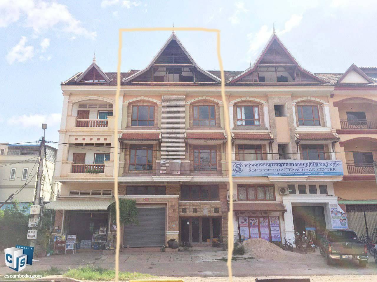 Commercial House – For Sale –  Sla Kram Commune – Siem Reap