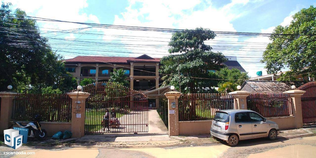 24 Bedroom Guest House – For Rent –Svay Dangkom Commune – Siem Reap
