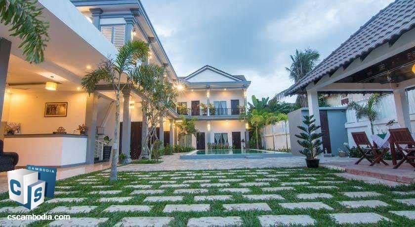 12 Room Hotel – For Sale – Svay Dangkum Commune- Siem Reap