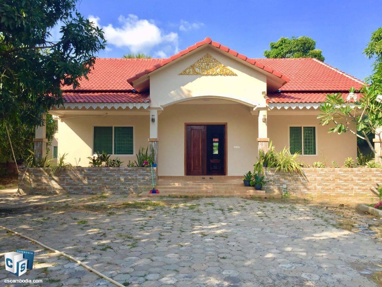 3 Bedroom House – For Rent – Kok Chork Commune – Siem Reap