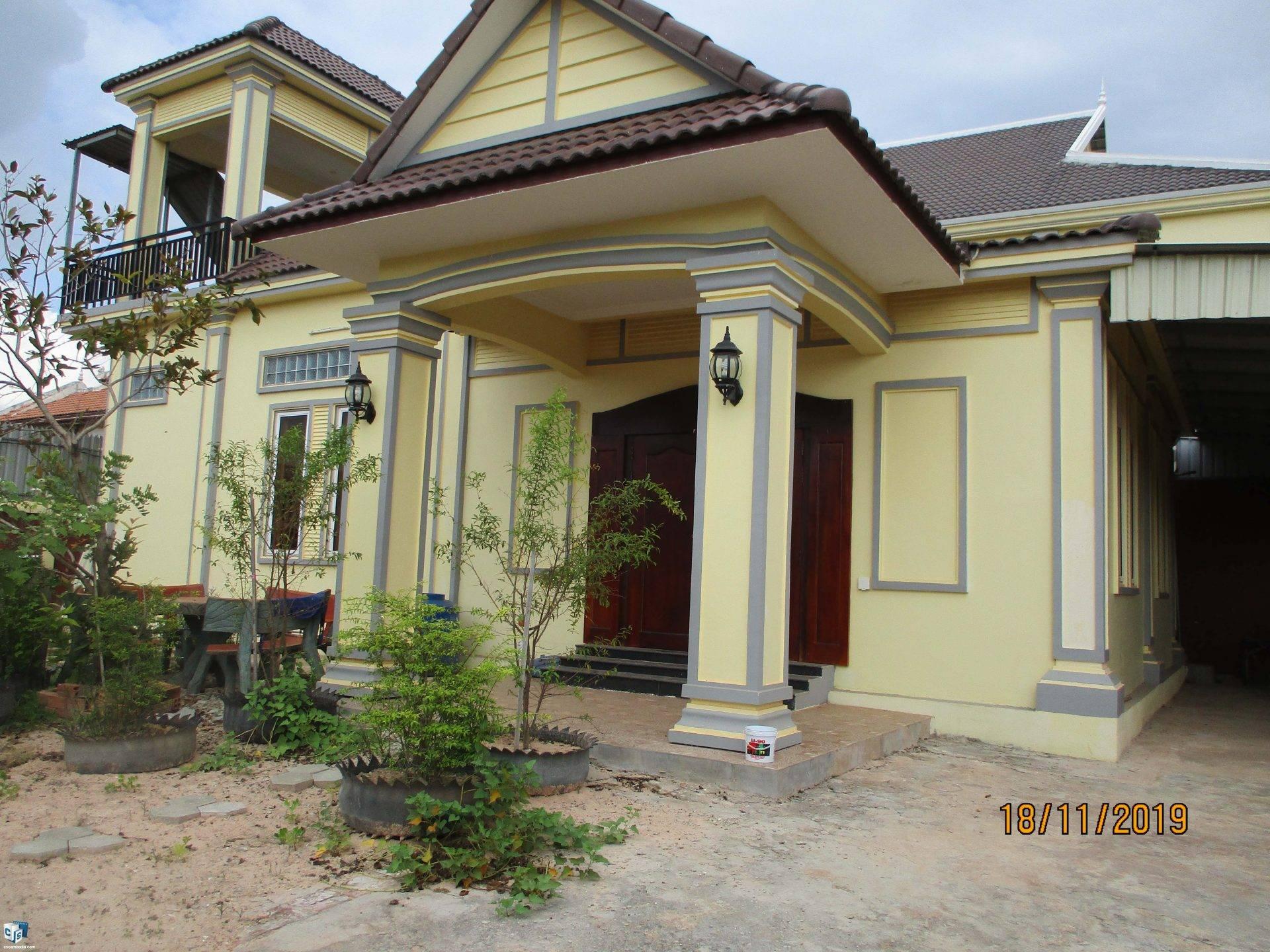 2 Bedroom House – For Rent  – Chreav Commune – Siem Reap