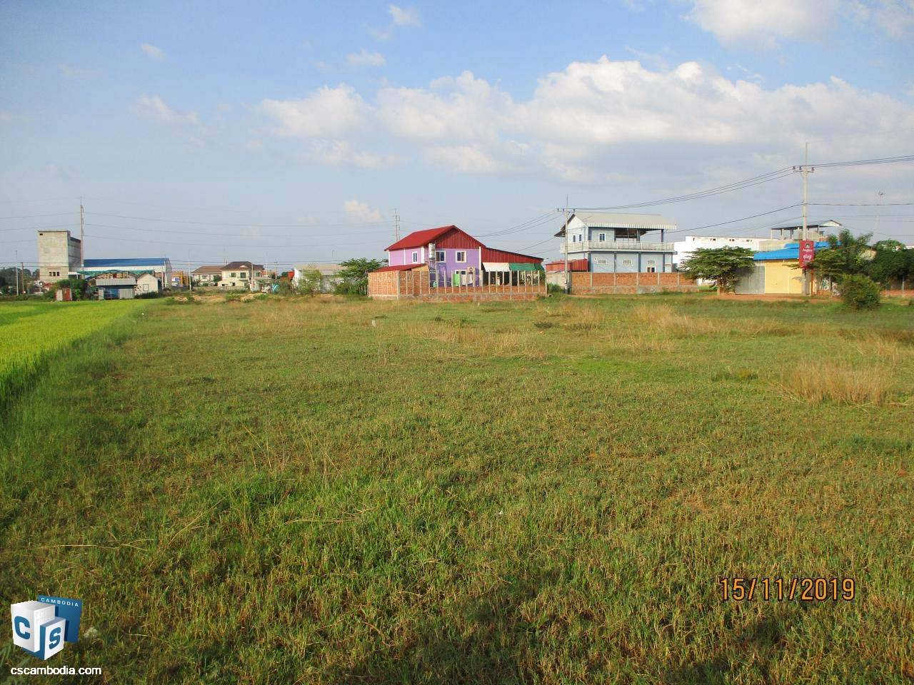 1,632 Sq Meters Of Land – For Sale – Chreav Commune– Siem Reap