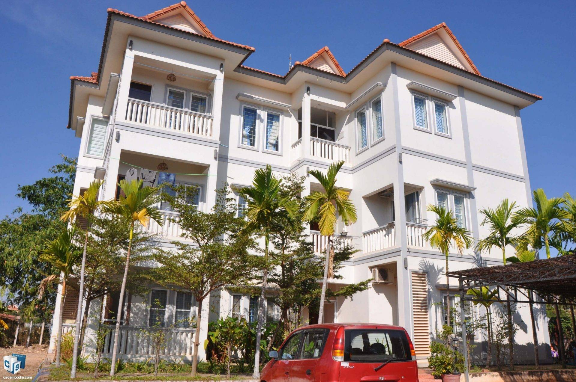 5 Unit Apartment Building  – For Rent – Svay Dangkum Commune – Siem Reap