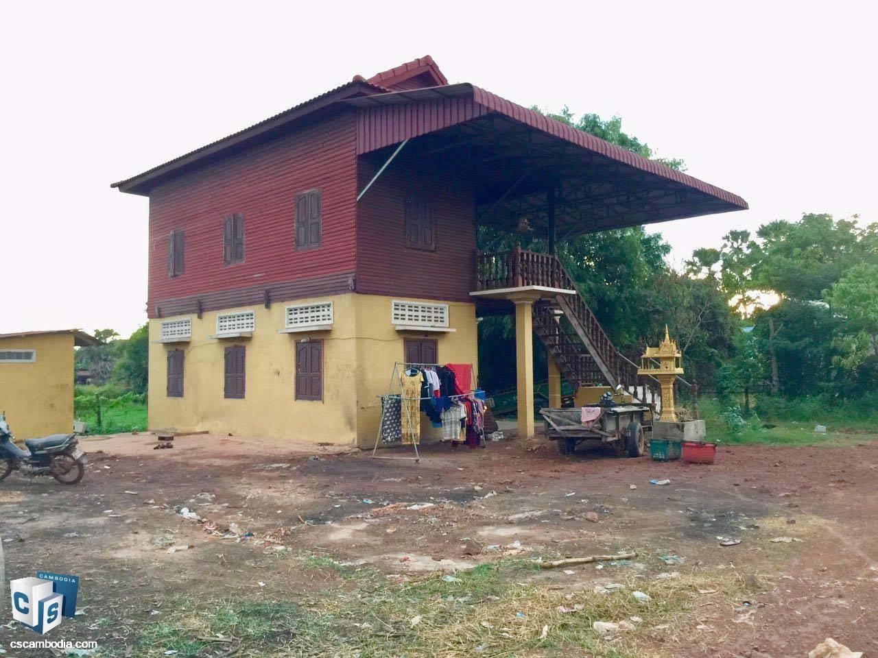 3 Bedroom House – For Sale  – Svay Dangkom Commune – Siem Reap