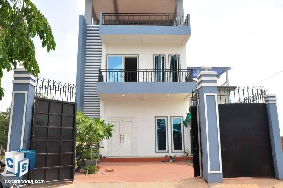 2 Story House For Sale In Sambor-Siem Reap