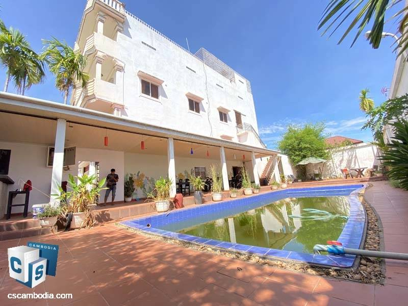 12-Room Guest House For Sale In Svay Dangkum-Siem Reap