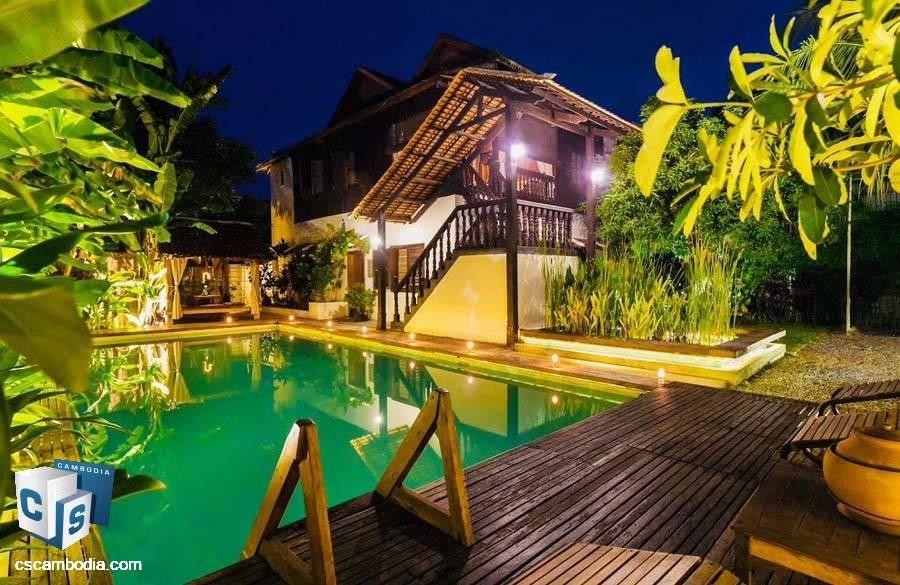 Wooden House For Rent In Sala Kamreuk-Siem Reap