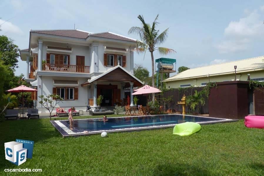 Villa Hotel Business For Sale In Svay Dangkum