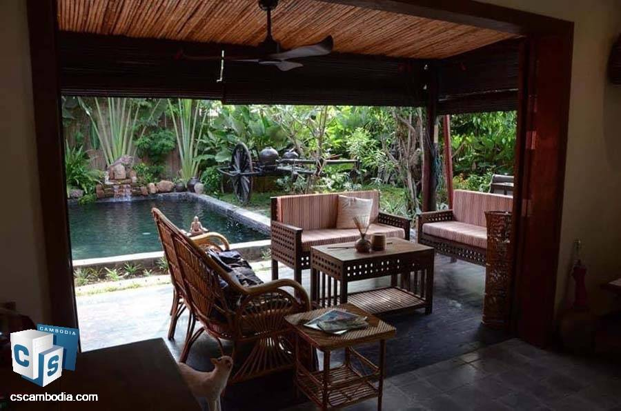 Private Villa With Pool For Sale In Chreav-Siem Reap
