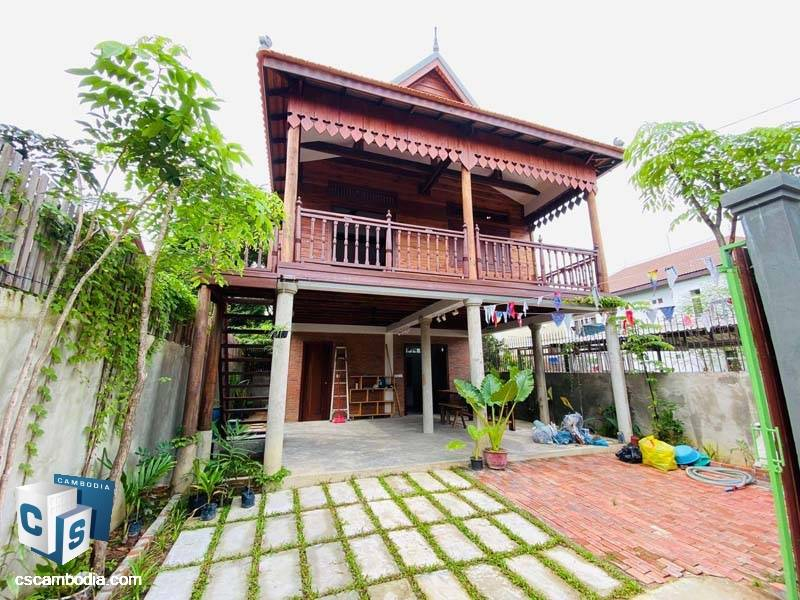 Khmer Traditional House For Rent In Sla Kram