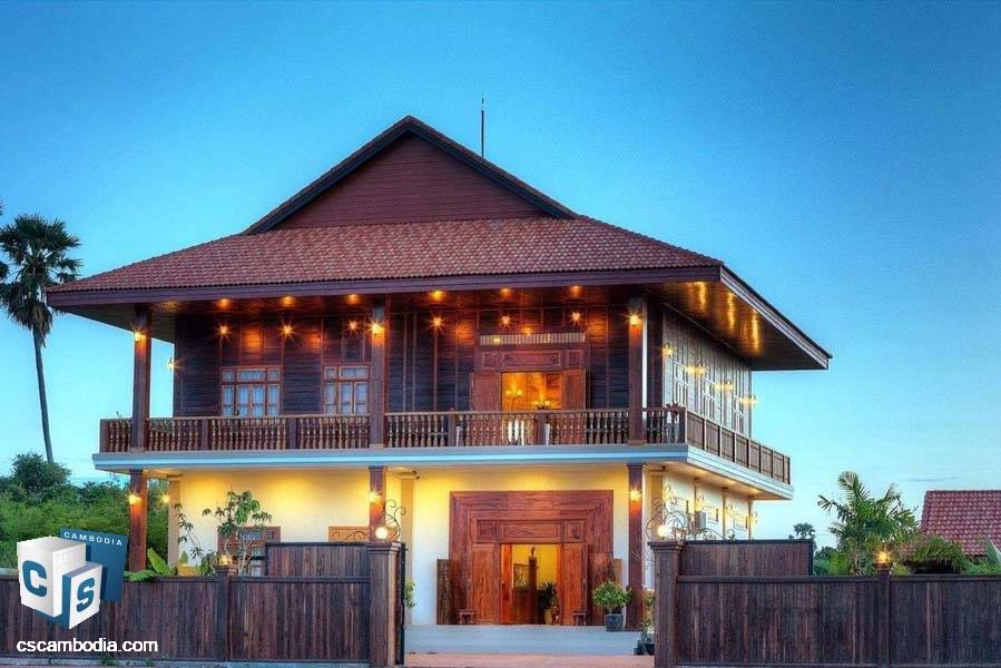 6-Bedrooms Villa For Rent In Steung Thmei- Siem Reap