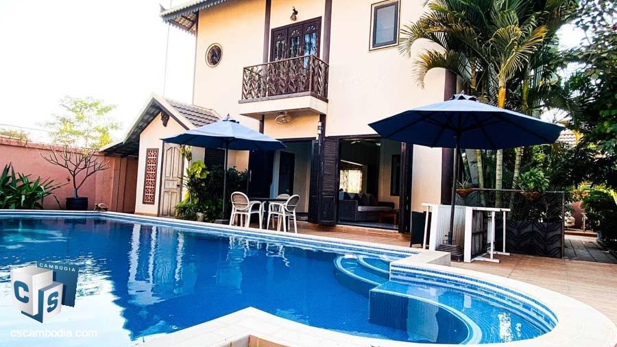 3-Bedrooms House For Rent In Svay Dangkum-Siem Reap